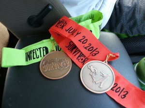infected/survivor zombie medals